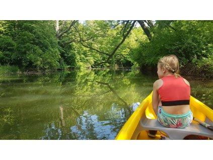 Výlet na koloběžkách s kombinací splutí řeky na Zámecké Dyji