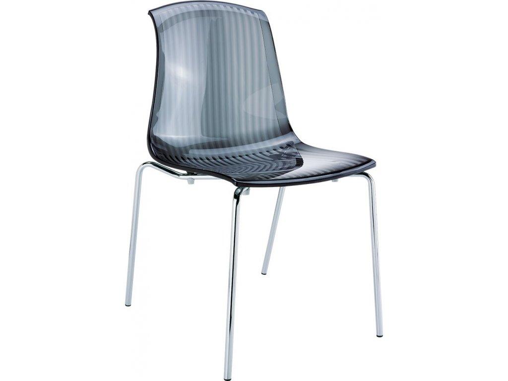 židle ALLEGRA (Barva Černě průhledná)