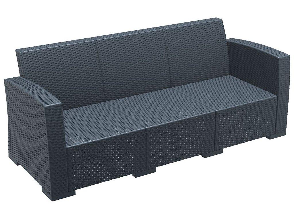 pohovka MONACO LOUNGE SOFA XL (Barva Tmavě šedá)