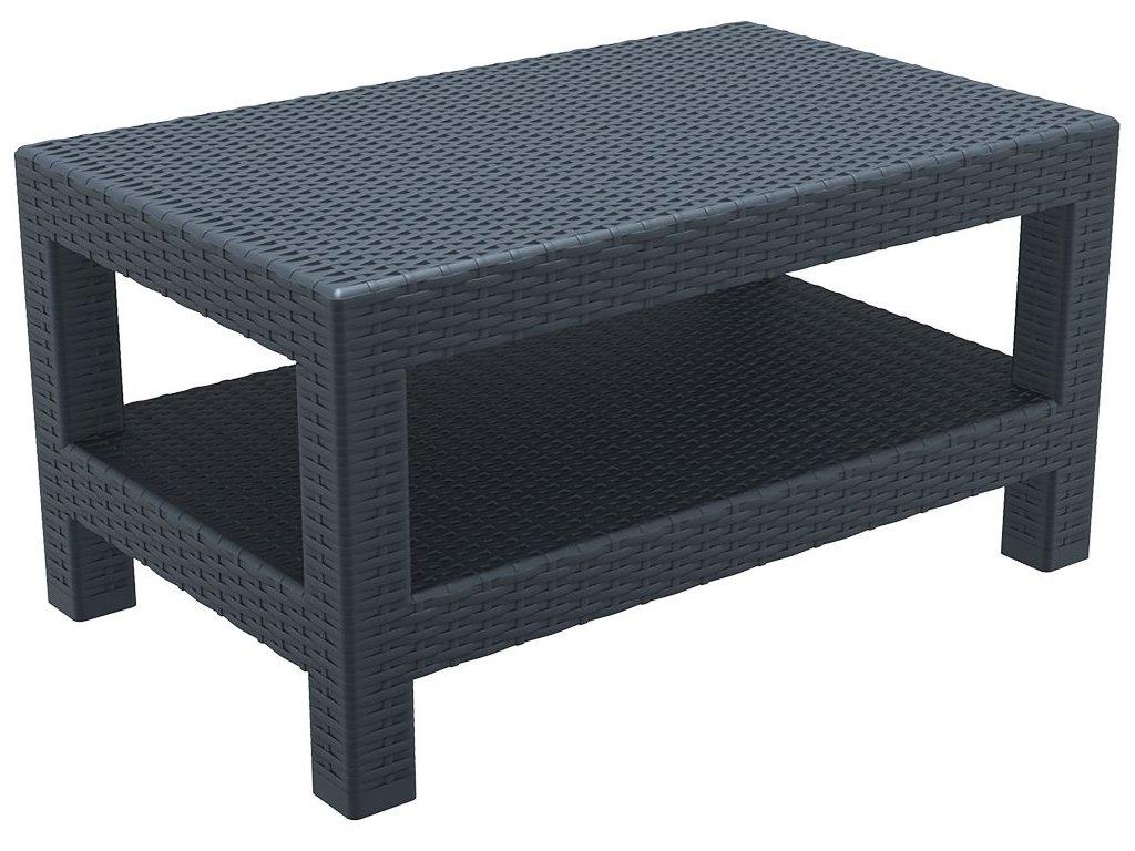 stolek MONACO LOUNGE TABLE (Barva Tmavě šedá)