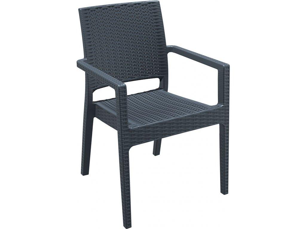 židle IBIZA (Barva Tmavě šedá)