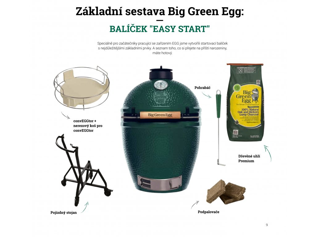 Základní sestava Big Green Egg Balíček Easy start