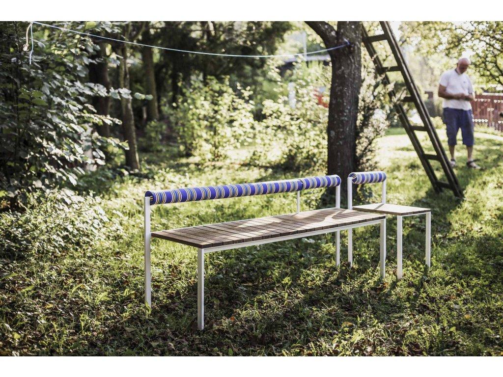 Zahradní lavice s opěrkou Bistrot