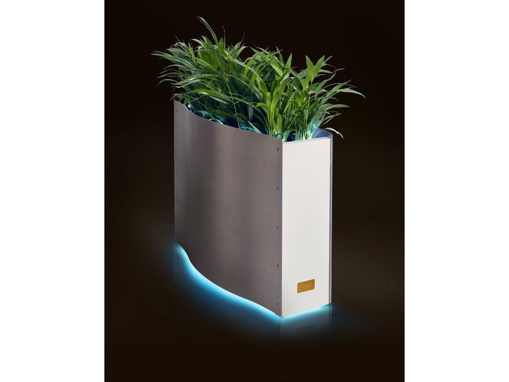 Nerezový květináč WAVE s LED osvětlením