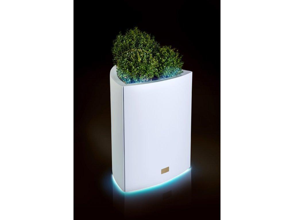 Hliníkový obal na květináč TRIANGLE L s LED osvětlením