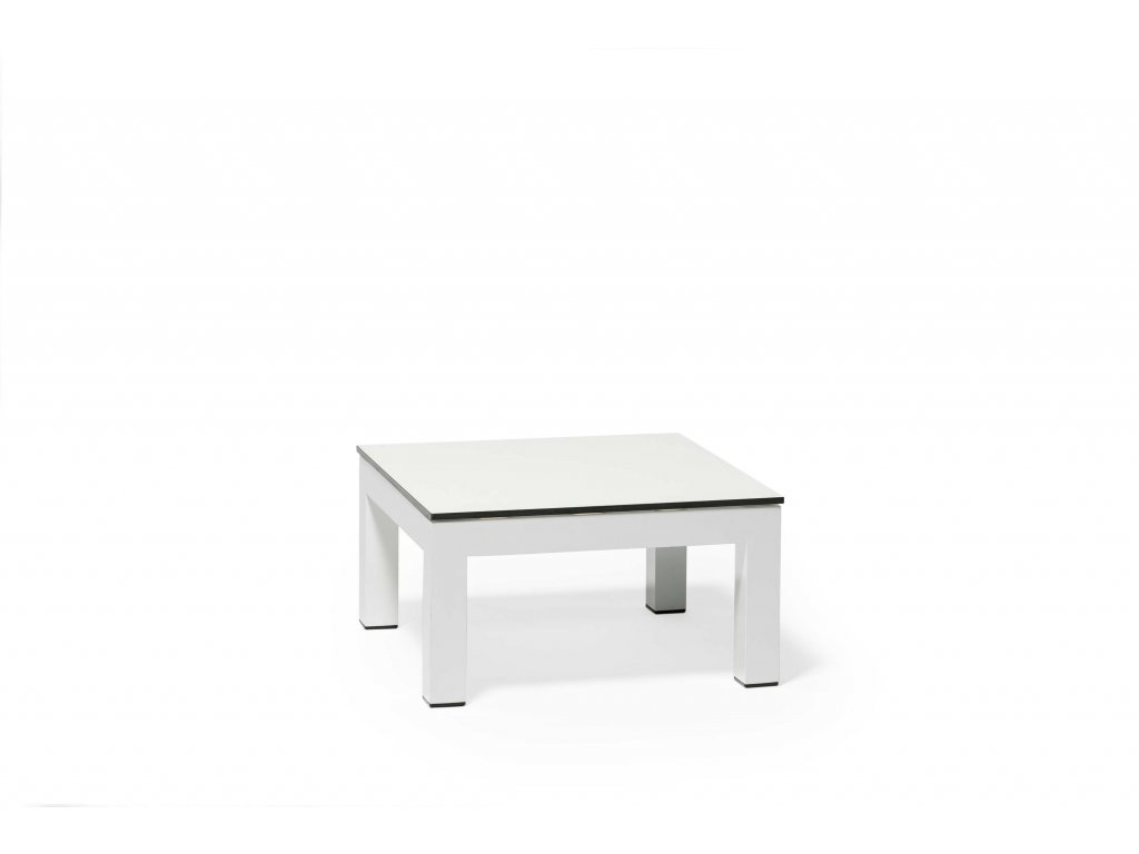Side table white alu