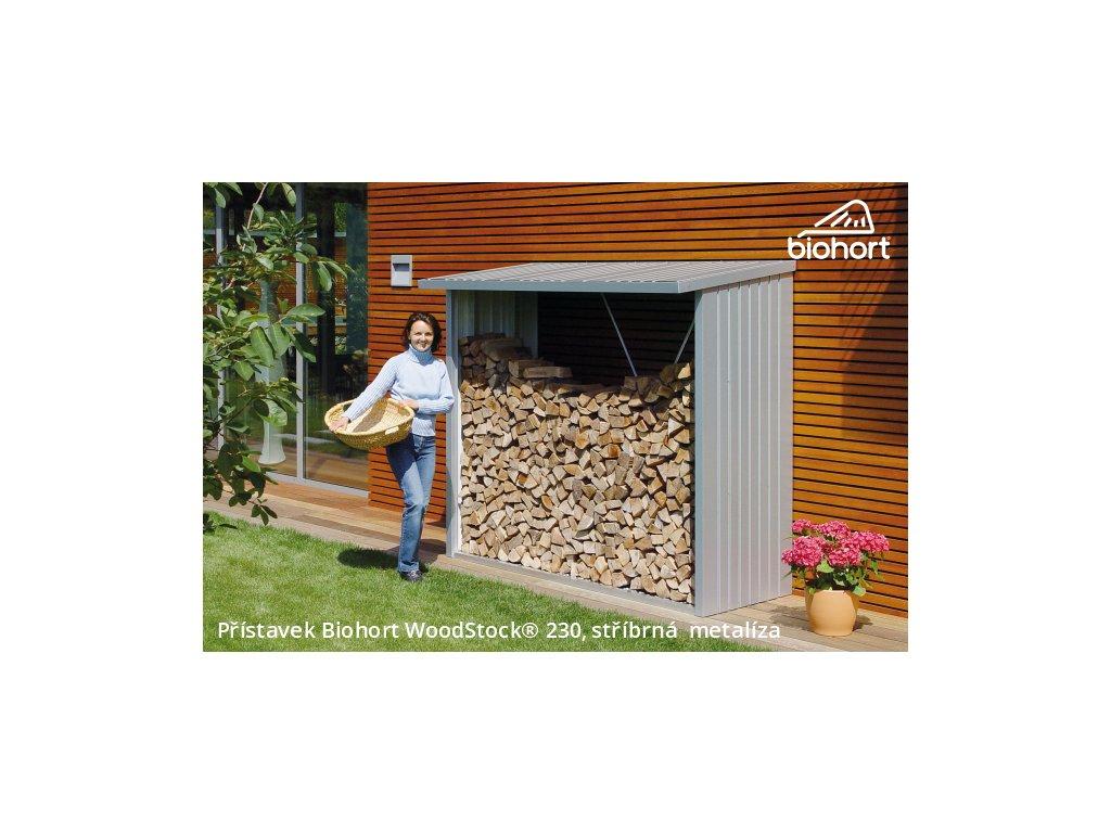 Biohort Přístavek WoodStock® 230, stříbrná metalíza