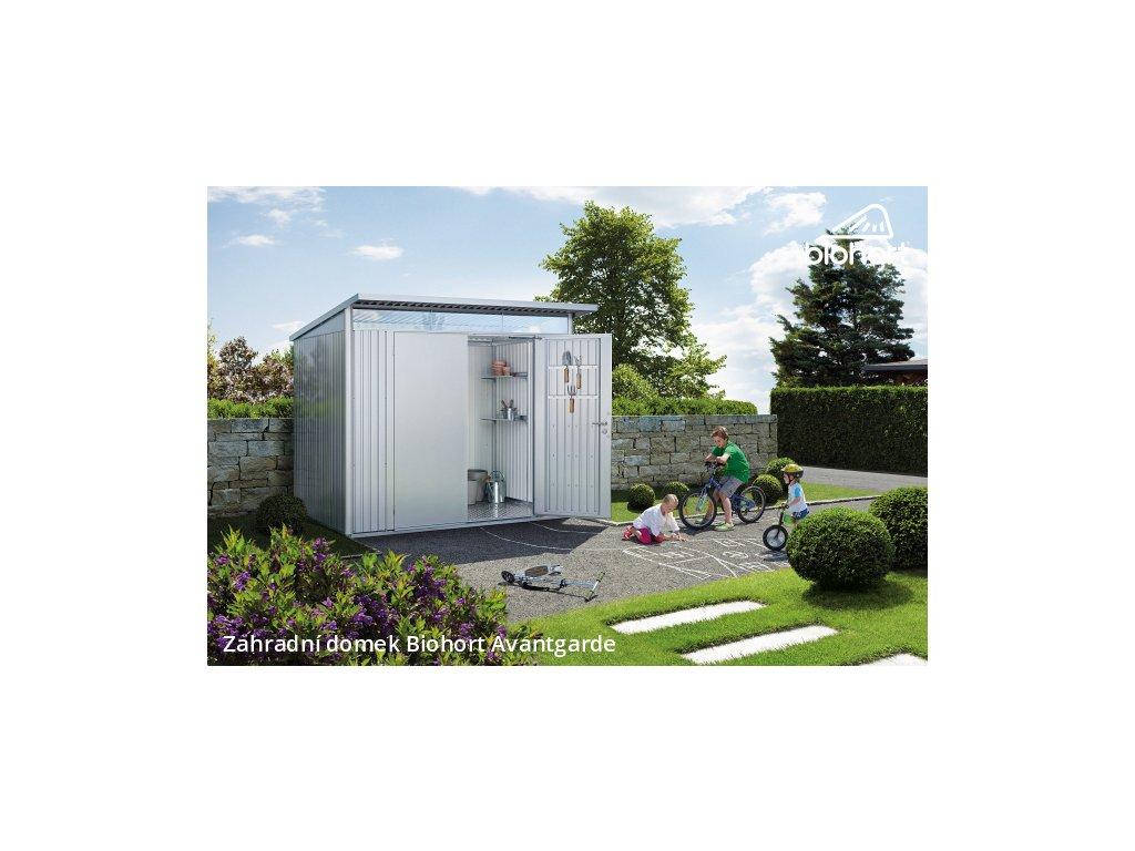 Biohort Zahradní domek AVANTGARDE A7, stříbrná metalíza