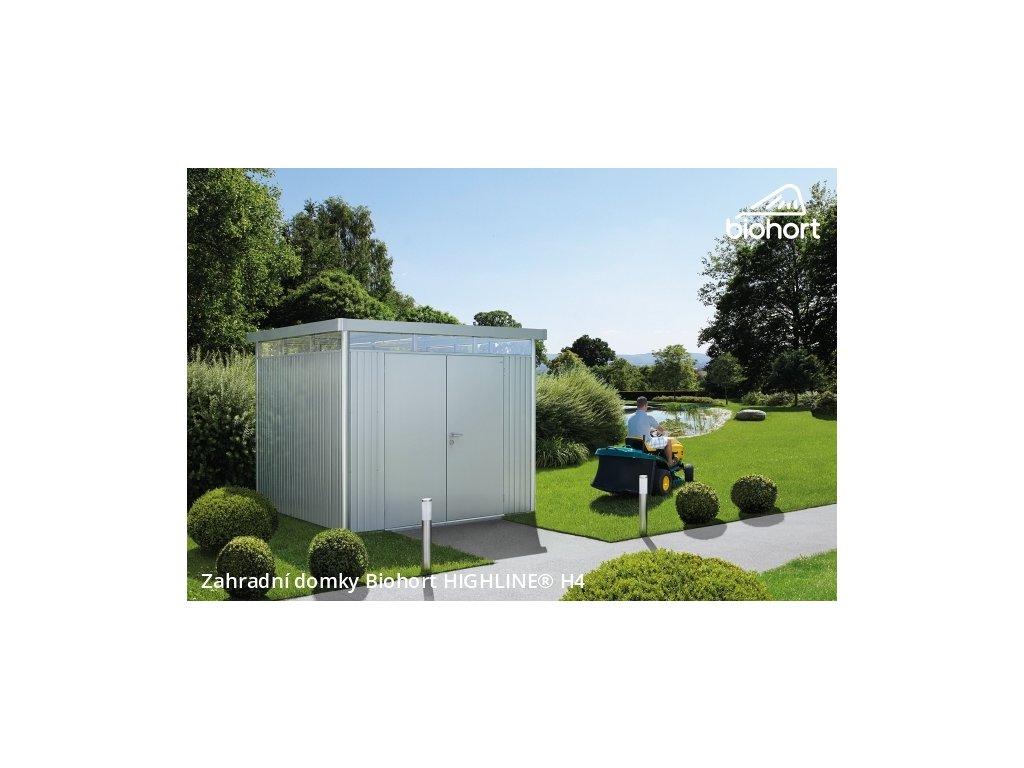 Biohort Zahradní domek HIGHLINE® H4, tmavě šedá metalíza