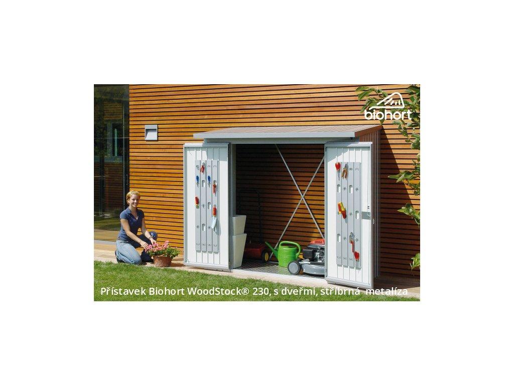 Biohort Dveřní set WoodStock® 230, stříbrná metalíza