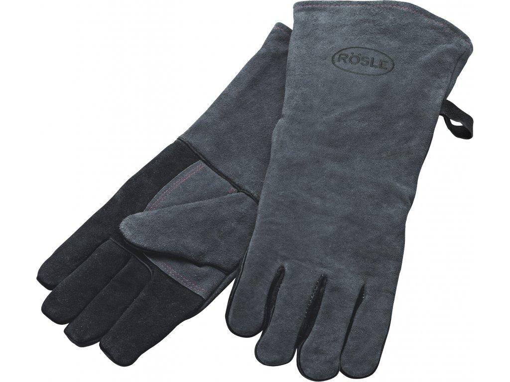 Kožené rukavice na grilování 2ks