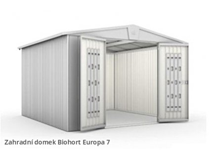Biohort Zahradní domek EUROPA 7, stříbrná metalíza