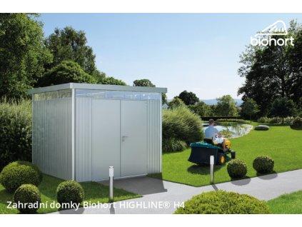 Biohort Zahradní domek HIGHLINE® H1, tmavě šedá metalíza