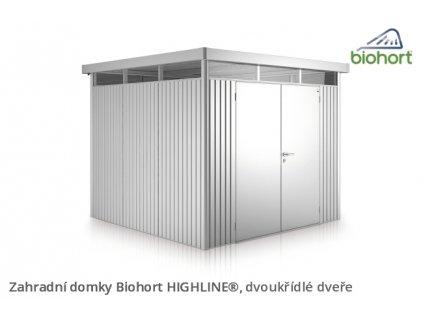 Biohort Zahradní domek HIGHLINE® H3, stříbrná metalíza