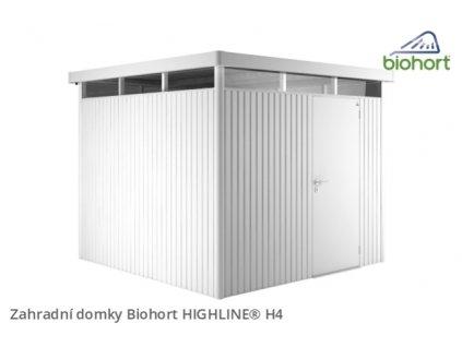 Biohort Zahradní domek HIGHLINE® H4, stříbrná metalíza