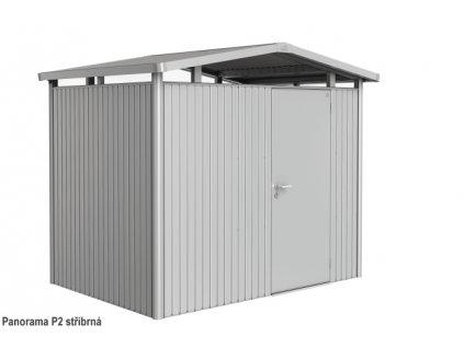 Biohort Zahradní domek PANORAMA P2, stříbrná metalíza