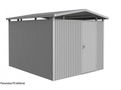 Biohort Zahradní domek PANORAMA P5, stříbrná metalíza