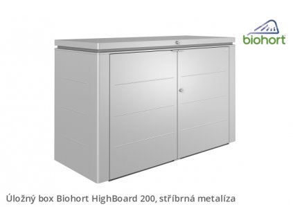 Biohort Úložný box HighBoard 200, stříbrná metalíza