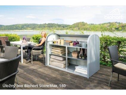 Biohort Úložný box StoreMax® 160, tmavě šedá metalíza