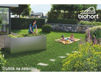Biohort Zvýšený truhlík na zeleninu 1 x 1 tmavě šedá metalíza