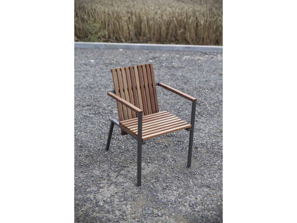 Zahradní židle s područky Axis