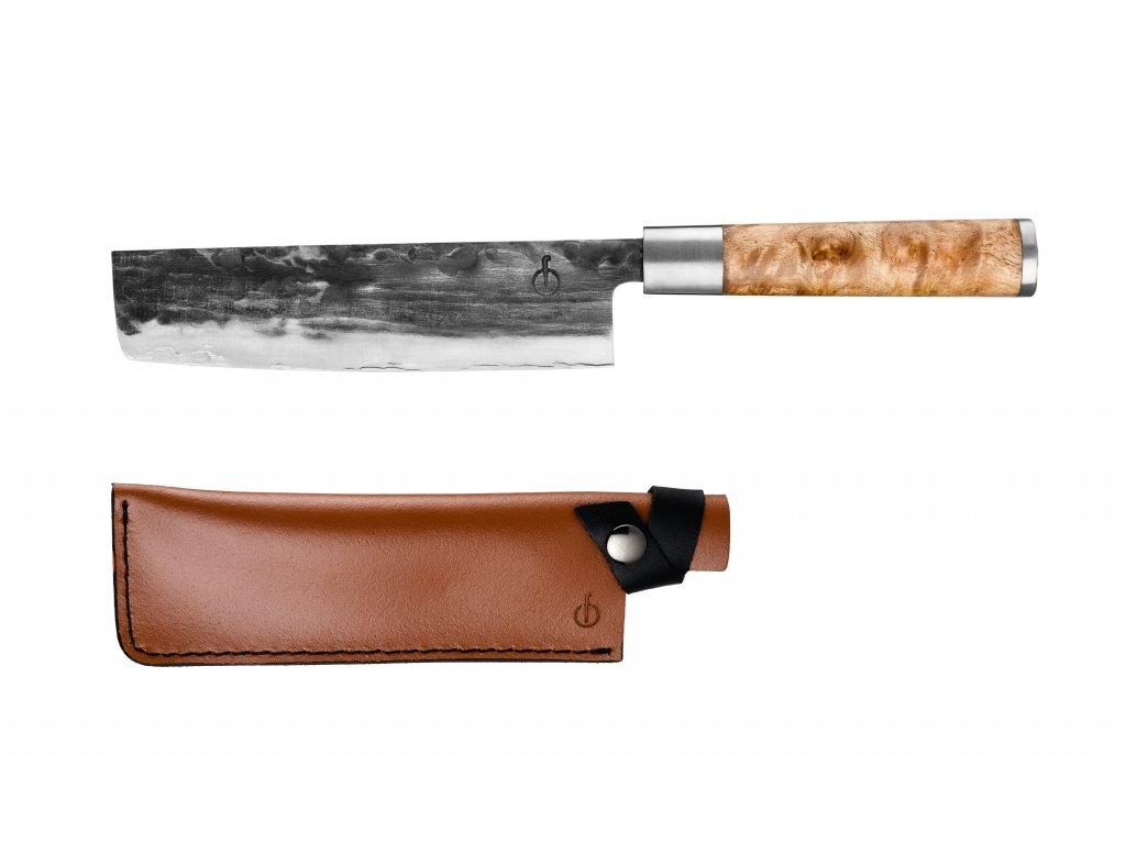 Japonský nůž na zeleninu s koženým pouzdrem VG10