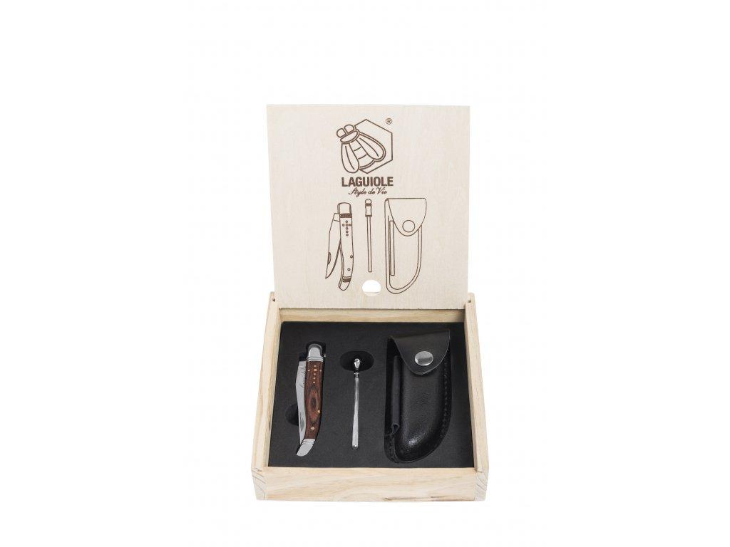 Vreckový nôž v darčekovej škatuli Laguiole Luxury