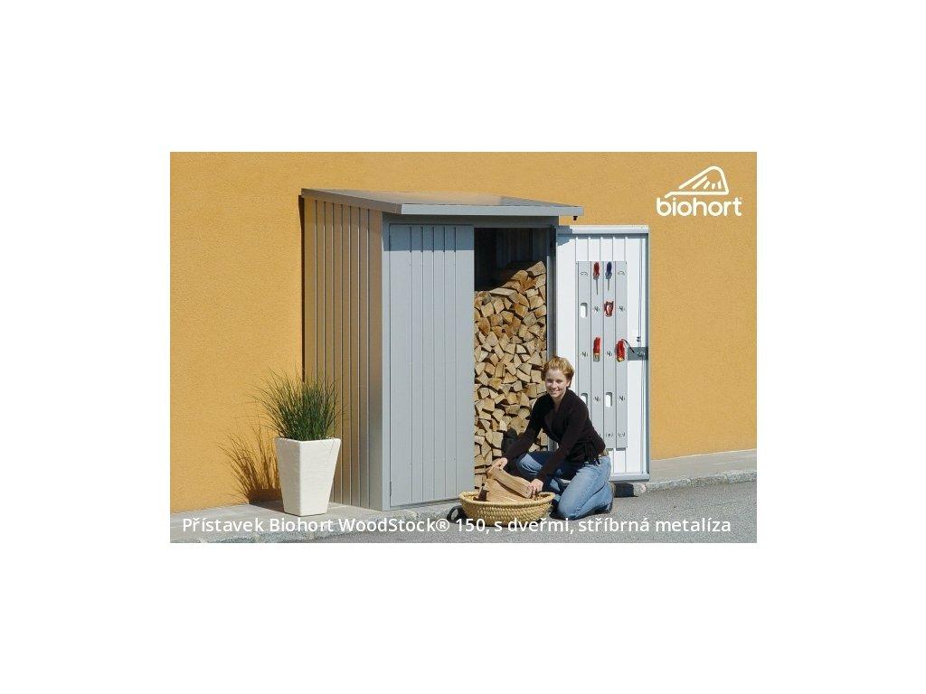 Biohort Přístavek WoodStock® 150, stříbrná metalíza