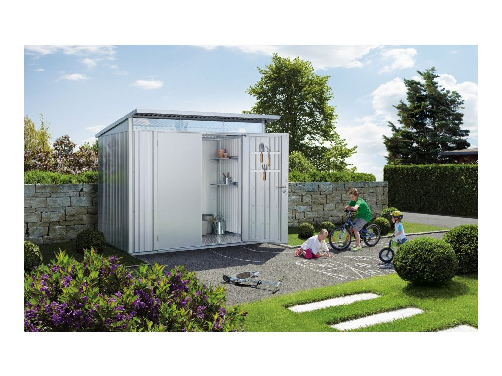 Biohort Zahradní domek AVANTGARDE A4, stříbrná metalíza