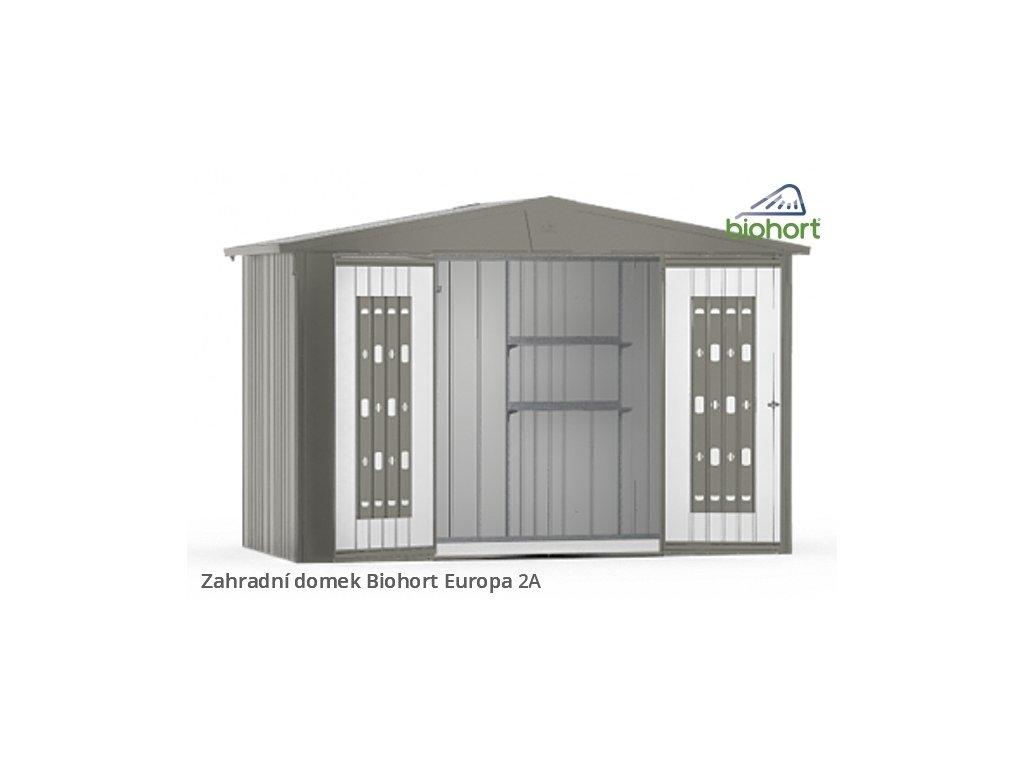 Biohort Zahradní domek EUROPA 2A, šedý křemen metalíza