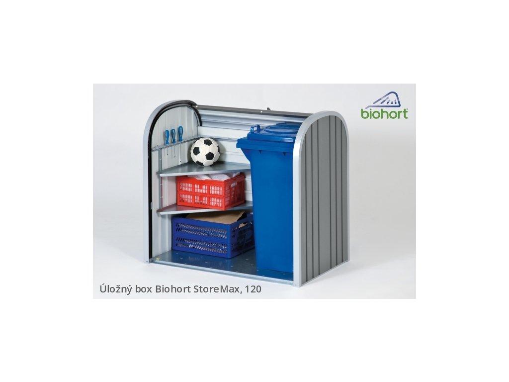 Biohort Úložný box StoreMax® 120, tmavě šedá metalíza