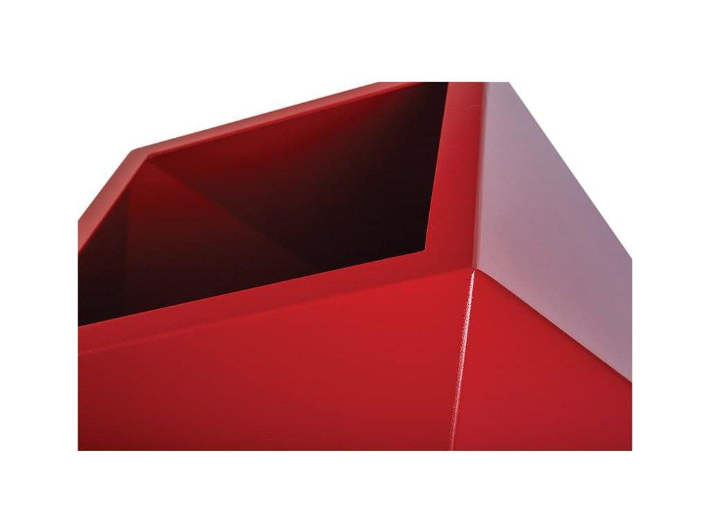 Hliníkový obal na květináč DIAMOND S (Barva Červená)