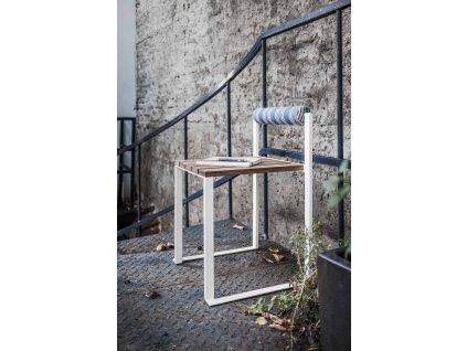 Zahradní stolička s opěrkou Bistrot