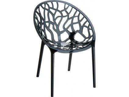 židle CRYSTAL (Barva Oranžově průhledná)