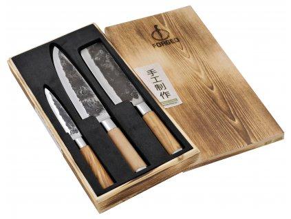 3-dílná sada nožů Olive Forged