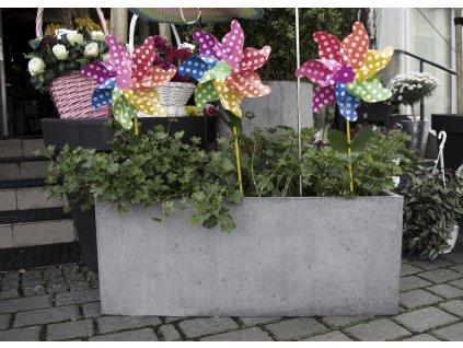 Betonový květináč Lungo (Barva Antracitová)