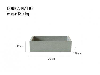 Betonový květináč Piatto