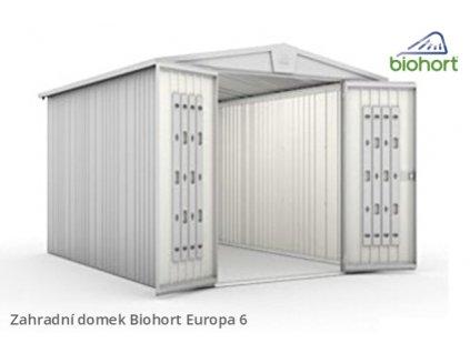 Biohort Zahradní domek EUROPA 6, šedý křemen metalíza