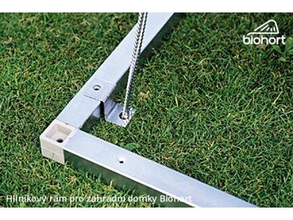 Biohort Hliníkový podlahový rám pro skříň na nářadí 90