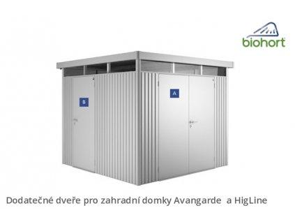 Biohort Dodatečné dveře, stříbrná metalíza