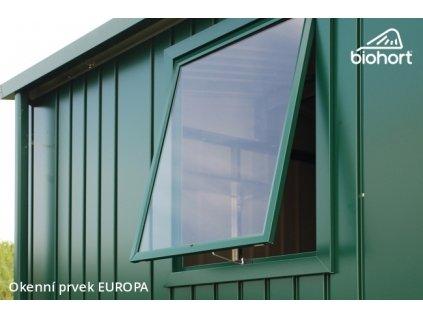 Biohort Okenní prvek pro EUROPA, stříbrná metalíza