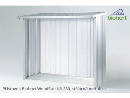 Biohort Zadní stěna WoodStock® 230, stříbrná metalíza