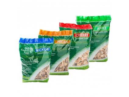 Dřevěné štěpky ořech
