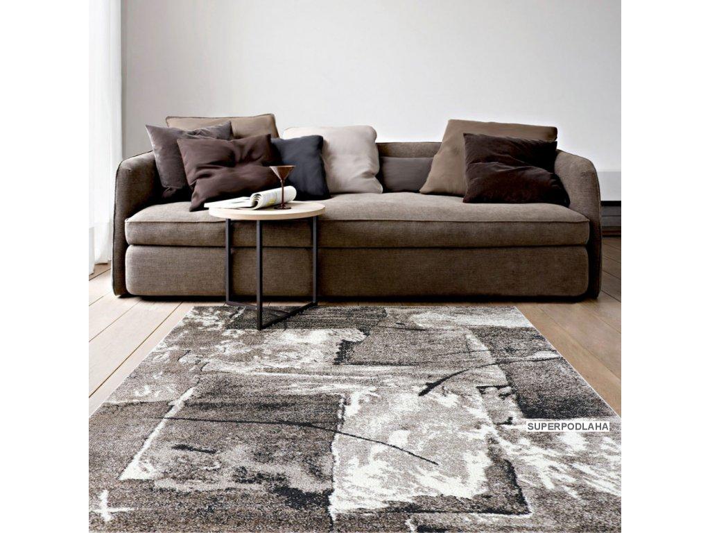 koberec lunar 4226a white brown (1)