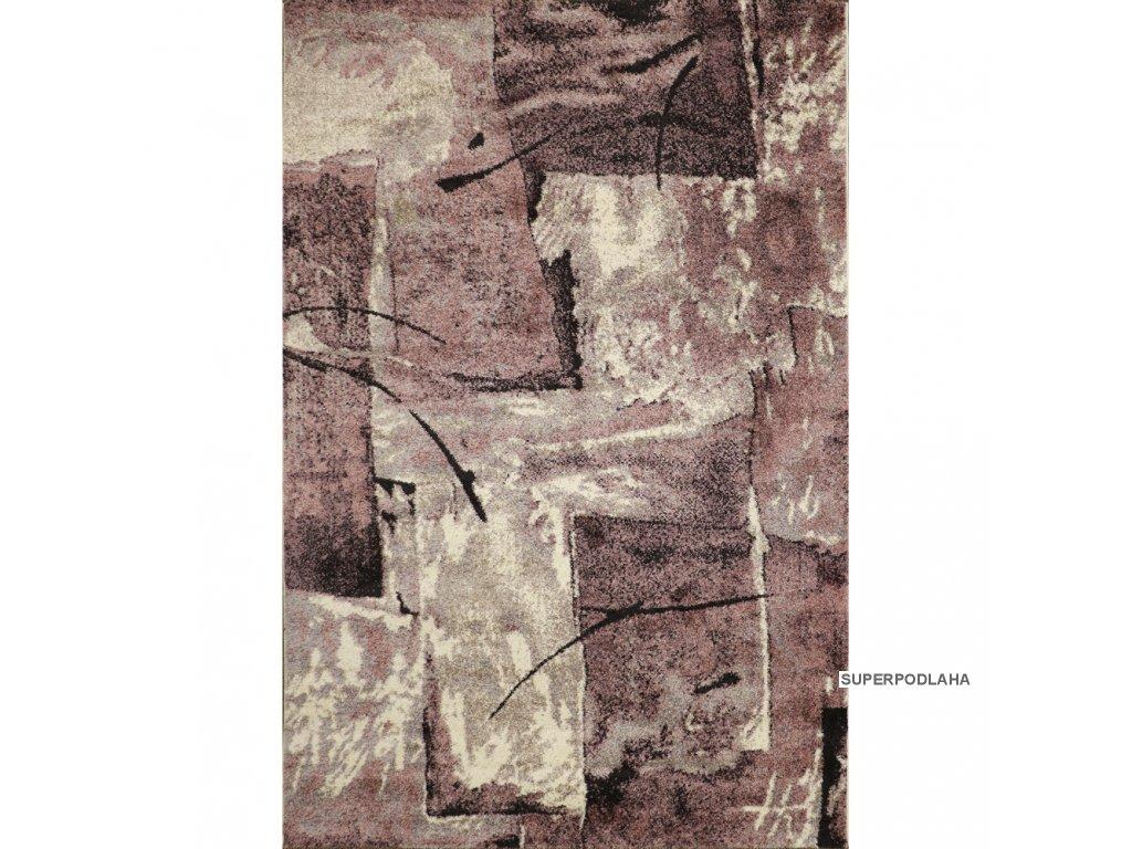koberec lunar 4226a white aubergine