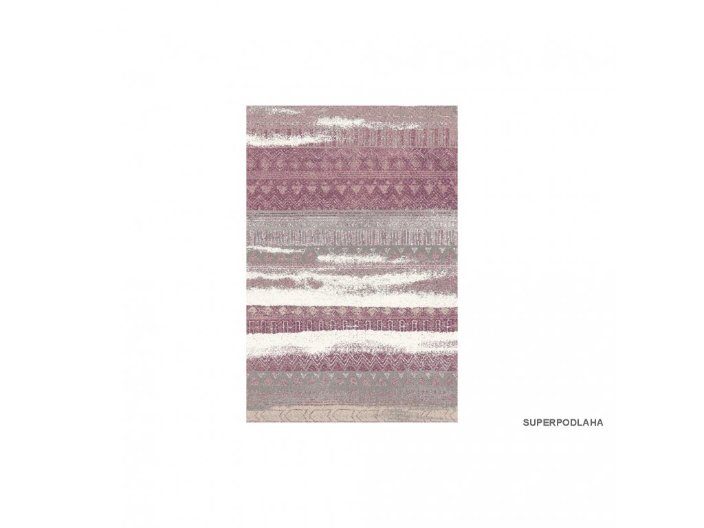 koberec lunar 4309a aubergine rose