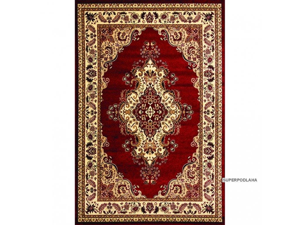 Kusový koberec Metal 0516 tm.červená