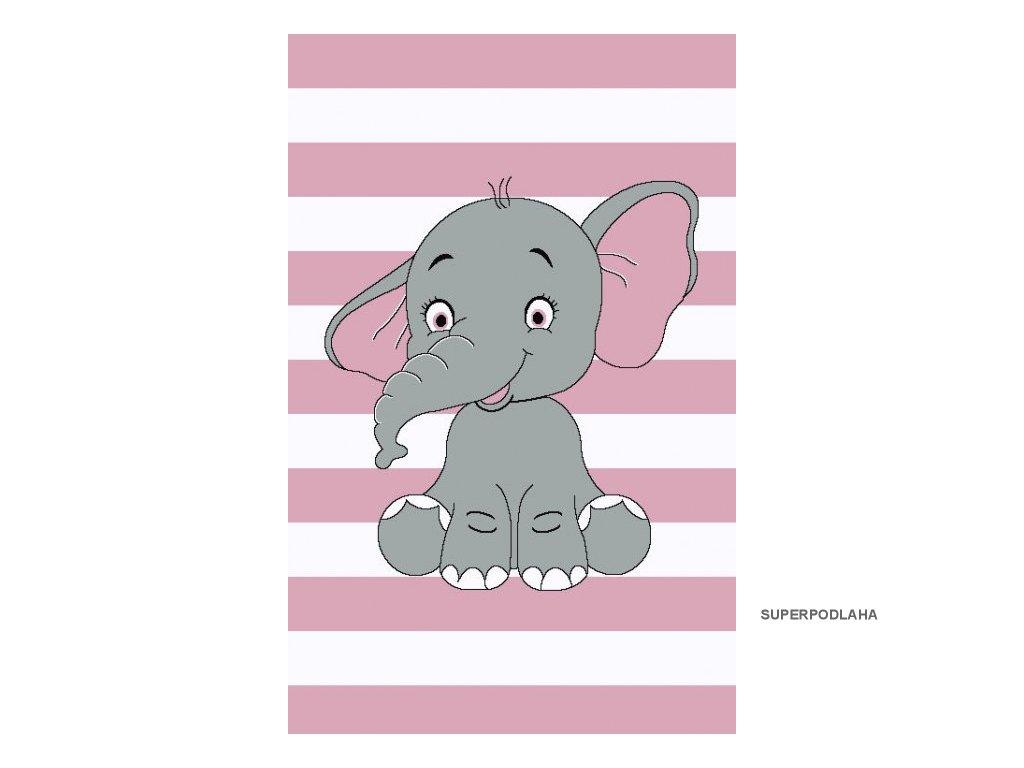 Dětský koberec Kiddo A1087 pink
