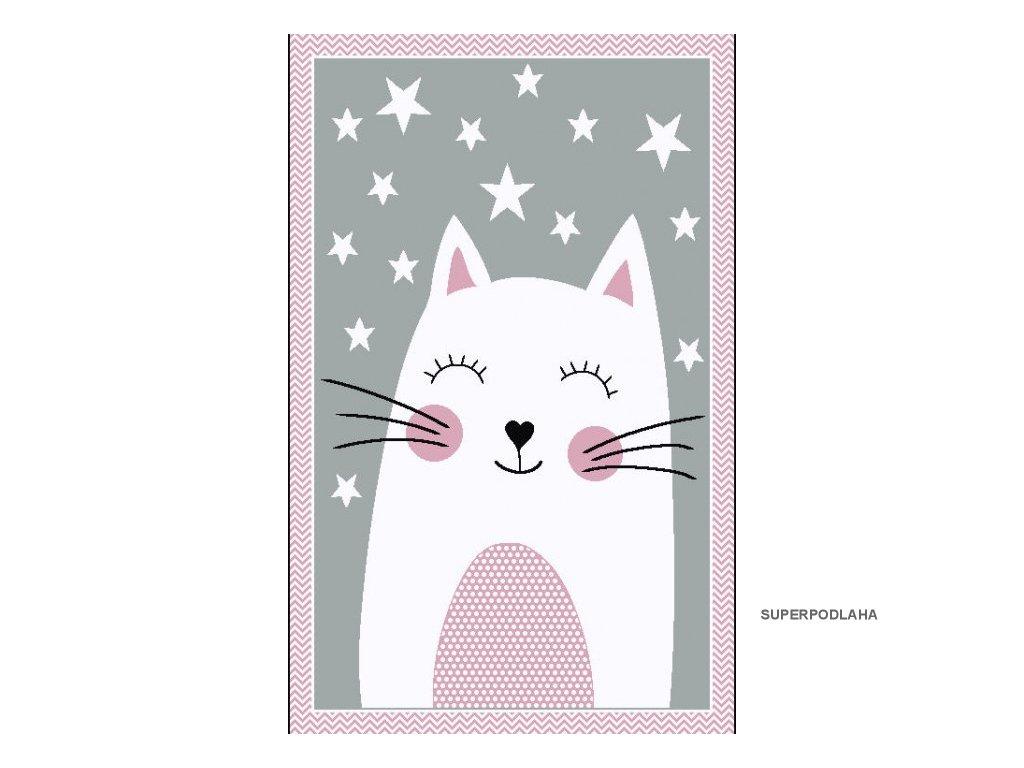 Dětský koberec Kiddo F0132 pink