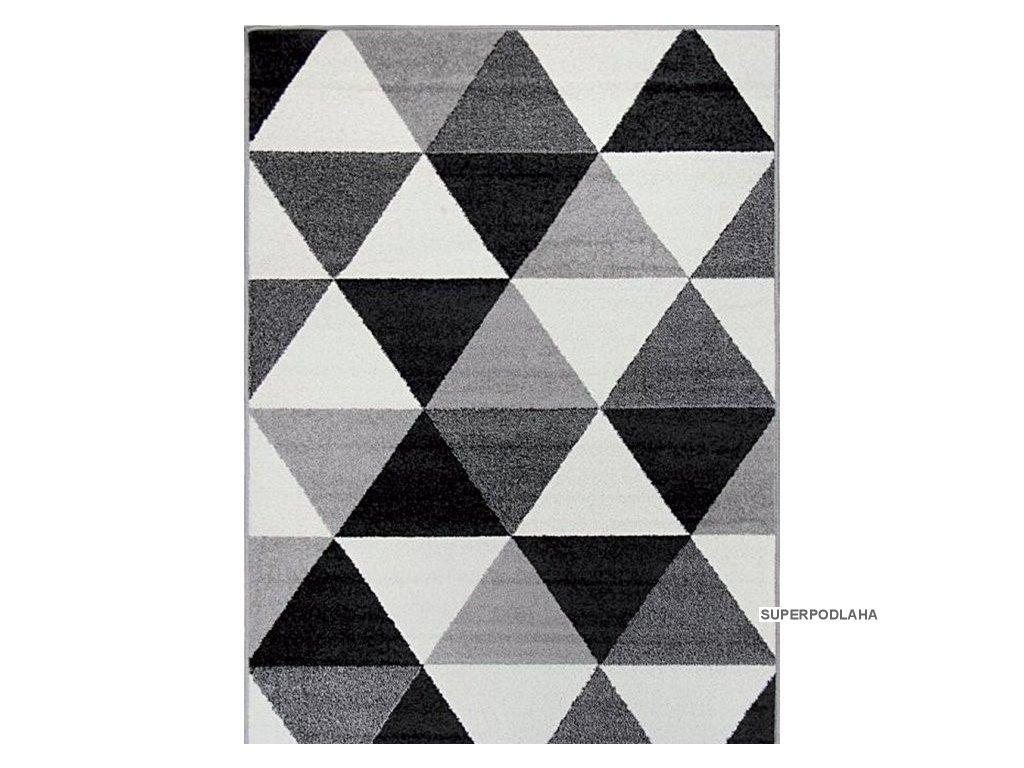 49637 1 moderni kusovy koberec lotto 665 hr5e cernobily